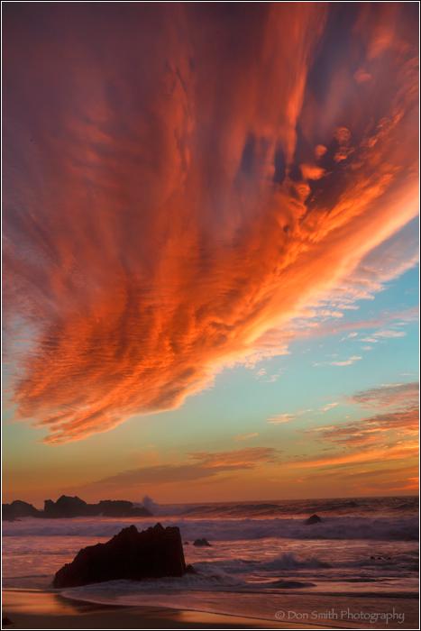 Winter Sunset at Garrapata State Beach