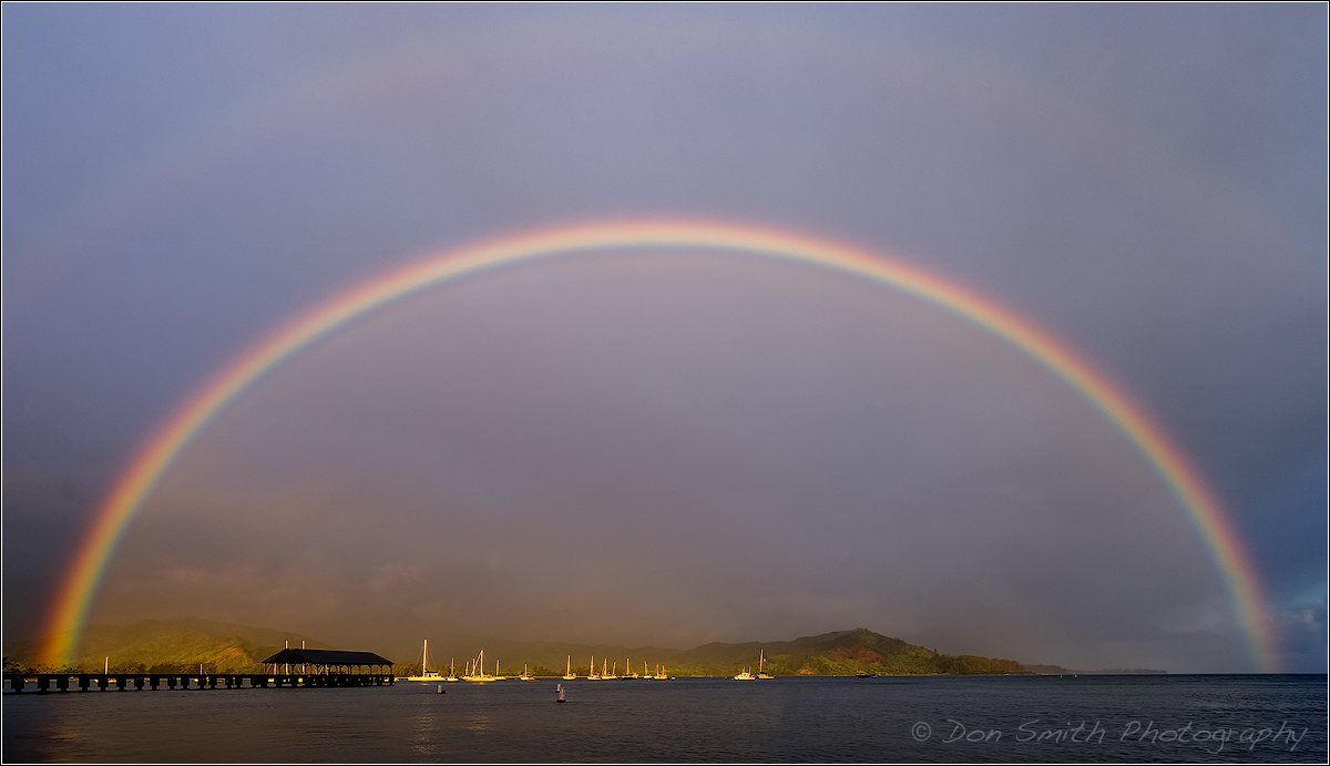 Double Rainbow Over Hanalei Pier Nature S Best By Don